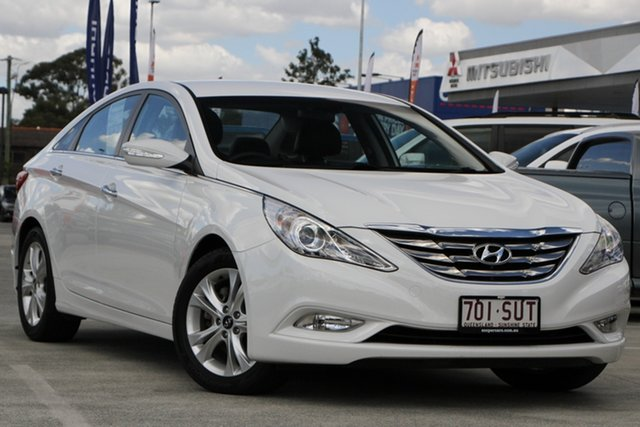 Used Hyundai i45 YF MY11 Elite Aspley, 2012 Hyundai i45 YF MY11 Elite White 6 Speed Sports Automatic Sedan