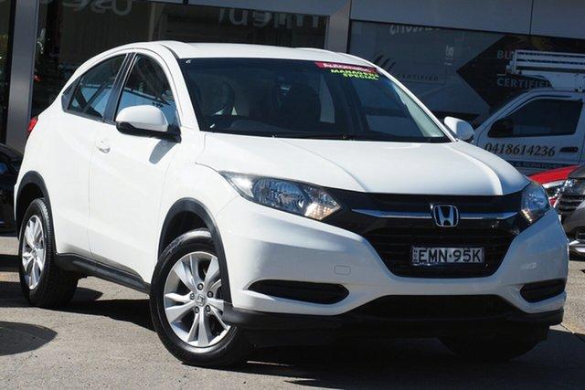 Used Honda HR-V MY15 VTi Homebush, 2015 Honda HR-V MY15 VTi Taffeta White 1 Speed Constant Variable Hatchback