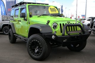 2012 Jeep Wrangler JK MY2013 Unlimited Sport Green 5 Speed Automatic Softtop.
