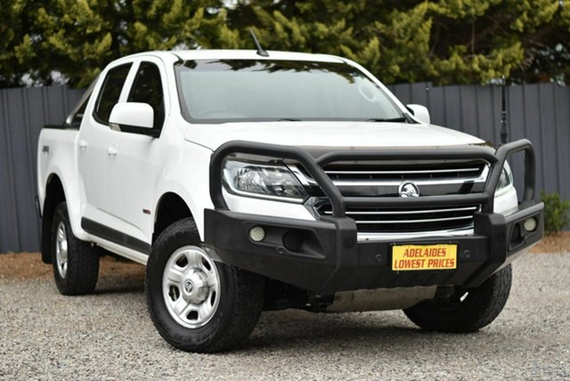 Used Holden Colorado RG MY18 LS Pickup Crew Cab Morphett Vale, 2018 Holden Colorado RG MY18 LS Pickup Crew Cab White 6 Speed Sports Automatic Utility