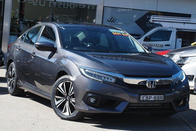 Used Honda Civic 10th Gen MY16 VTi-LX Homebush, 2016 Honda Civic 10th Gen MY16 VTi-LX Grey 1 Speed Constant Variable Sedan