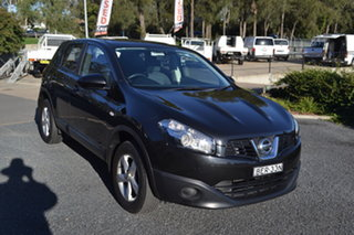 2012 Nissan Dualis J10 Series II MY2010 ST Hatch X-tronic Black 6 Speed Constant Variable Hatchback.