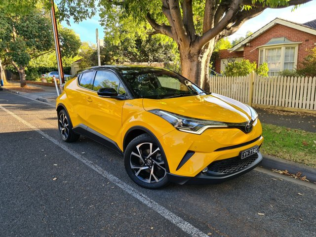 Pre-Owned Toyota C-HR NGX10R Koba S-CVT 2WD Hawthorn, 2017 Toyota C-HR NGX10R Koba S-CVT 2WD Hornet Yellow/leathe 7 Speed Constant Variable Wagon