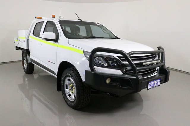 Used Holden Colorado RG MY18 LS (4x4) Bentley, 2017 Holden Colorado RG MY18 LS (4x4) White 6 Speed Automatic Crew Cab Chassis