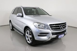 2012 Mercedes-Benz ML250 CDI BlueTEC 166 4x4 Silver 7 Speed Automatic Wagon.