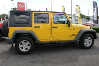 2007 Jeep Wrangler JK Unlimited Sport Yellow 4 Speed Automatic Softtop.