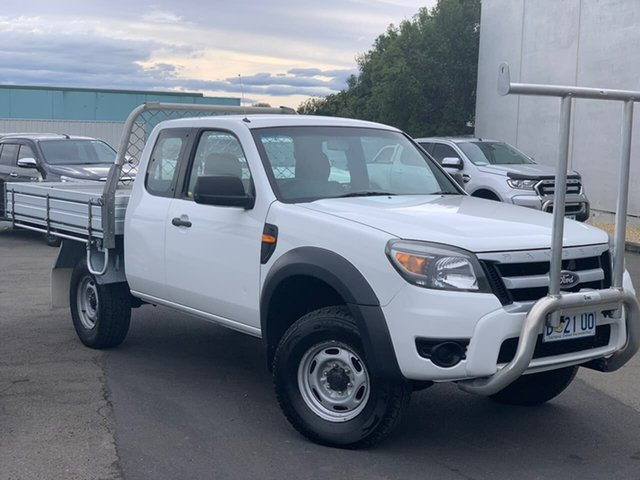 Used Ford Ranger PK XL Hi-Rider Moonah, 2011 Ford Ranger PK XL Hi-Rider White 5 Speed Manual Cab Chassis