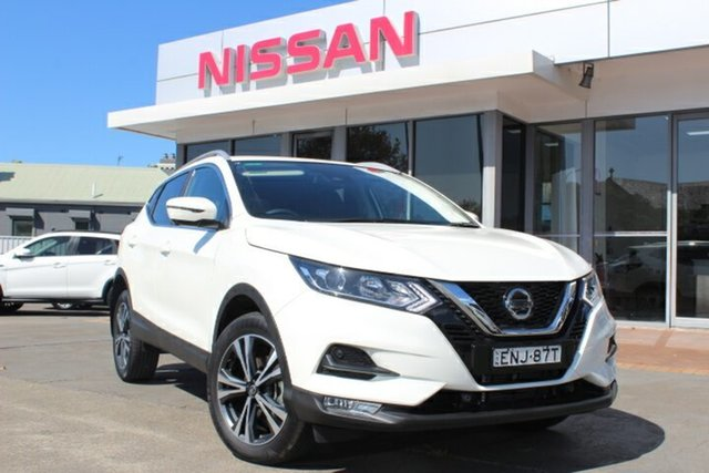 Demo Nissan Qashqai J11 Series 3 MY20 ST-L X-tronic Hamilton, 2020 Nissan Qashqai J11 Series 3 MY20 ST-L X-tronic Ivory Pearl 1 Speed Constant Variable Wagon