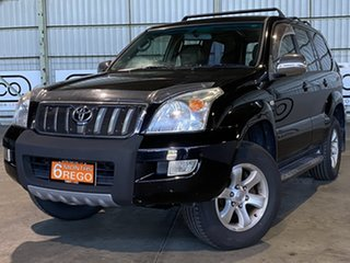 2004 Toyota Landcruiser Prado GRJ120R GXL Black 5 Speed Automatic Wagon.