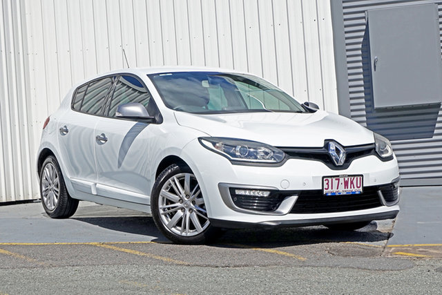 Used Renault Megane III B95 Phase 2 GT-Line EDC Premium Springwood, 2015 Renault Megane III B95 Phase 2 GT-Line EDC Premium White 6 Speed Sports Automatic Dual Clutch