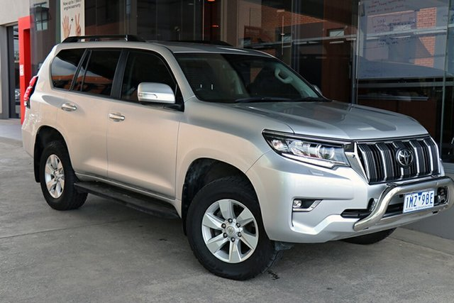 Pre-Owned Toyota Landcruiser Prado GDJ150R GXL South Morang, 2018 Toyota Landcruiser Prado GDJ150R GXL Silver Pearl 6 Speed Sports Automatic Wagon