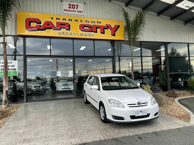 Used Toyota Corolla ZRE152R Ascent Traralgon, 2007 Toyota Corolla ZRE152R Ascent White 6 Speed Manual Hatchback