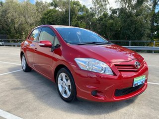 2011 Toyota Corolla ZRE152R MY11 Conquest Red 4 Speed Automatic Hatchback.