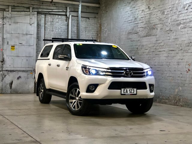 Used Toyota Hilux GUN126R SR5 Double Cab Mile End South, 2015 Toyota Hilux GUN126R SR5 Double Cab White 6 Speed Sports Automatic Utility