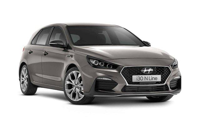 New Hyundai i30 PD.V4 MY21 N Line D-CT Oakleigh, 2020 Hyundai i30 PD.V4 MY21 N Line D-CT Silver 7 Speed Sports Automatic Dual Clutch Hatchback