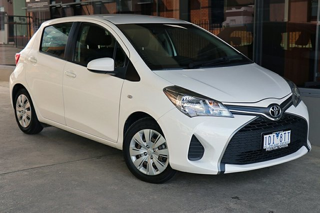 Pre-Owned Toyota Yaris NCP130R Ascent Preston, 2014 Toyota Yaris NCP130R Ascent White 4 Speed Automatic Hatchback