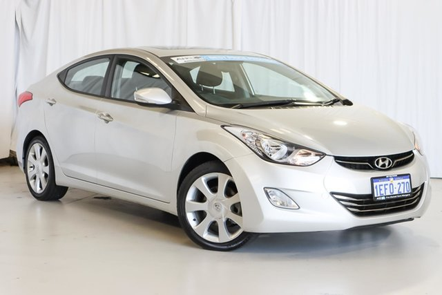 Used Hyundai Elantra MD3 Premium Wangara, 2013 Hyundai Elantra MD3 Premium Silver 6 Speed Sports Automatic Sedan