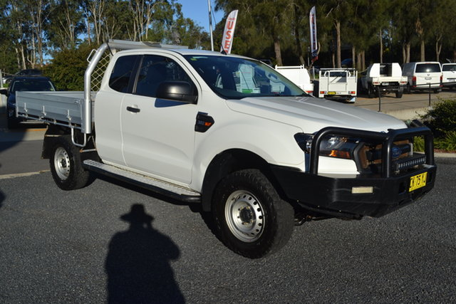 Used Ford Ranger PX MkII XL Maitland, 2016 Ford Ranger PX MkII XL White 6 Speed Manual Cab Chassis
