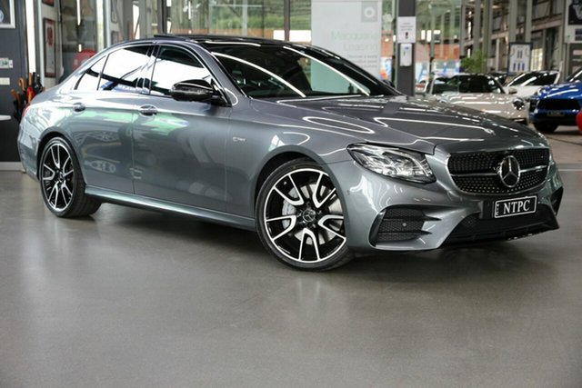 Used Mercedes-Benz E-Class W213 808MY E43 AMG 9G-Tronic PLUS 4MATIC North Melbourne, 2018 Mercedes-Benz E-Class W213 808MY E43 AMG 9G-Tronic PLUS 4MATIC Grey 9 Speed Sports Automatic
