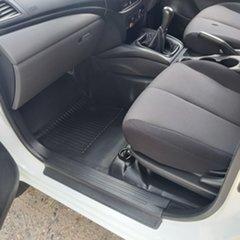 2015 Mitsubishi Triton MN GLX White Manual Cab Chassis
