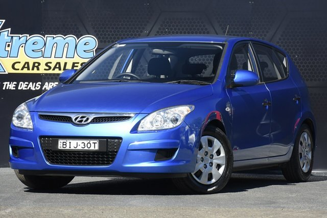 Used Hyundai i30 FD SX Campbelltown, 2008 Hyundai i30 FD SX Blue 5 Speed Manual Hatchback