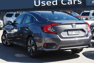 2016 Honda Civic 10th Gen MY16 VTi-LX Grey 1 Speed Constant Variable Sedan.