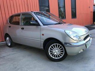 2000 Daihatsu Sirion M100RS Silver 4 Speed Automatic Hatchback.