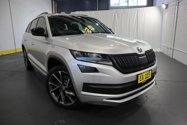 Used Skoda Kodiaq NS MY18.5 140TDI DSG Castle Hill, 2018 Skoda Kodiaq NS MY18.5 140TDI DSG Silver 7 Speed Sports Automatic Dual Clutch Wagon