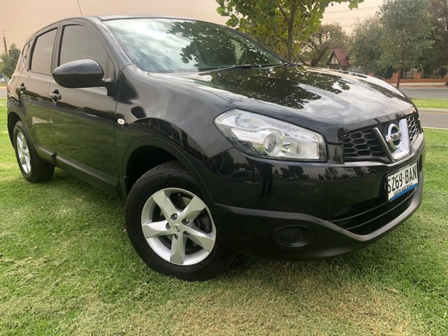 Used Nissan Dualis J10W Series 3 MY12 ST Hatch 2WD Hindmarsh, 2012 Nissan Dualis J10W Series 3 MY12 ST Hatch 2WD Black 6 Speed Manual Hatchback
