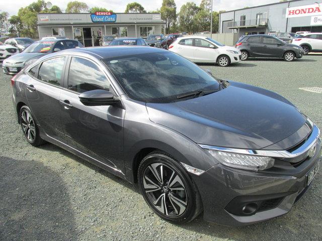 Used Honda Civic 10th Gen MY17 VTi-LX Echuca, 2017 Honda Civic 10th Gen MY17 VTi-LX Grey 1 Speed Constant Variable Sedan