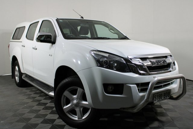 Used Isuzu D-MAX MY14 LS-U Crew Cab 4x2 High Ride Wayville, 2014 Isuzu D-MAX MY14 LS-U Crew Cab 4x2 High Ride White 5 Speed Manual Utility
