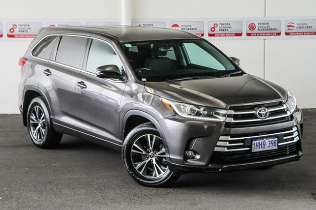 Pre-Owned Toyota Kluger GSU55R MY17 GX (4x4) Myaree, 2017 Toyota Kluger GSU55R MY17 GX (4x4) Predawn Grey 8 Speed Automatic Wagon