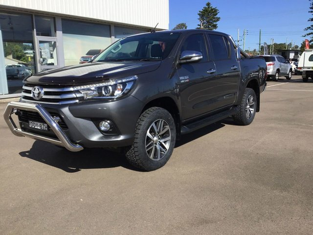 Pre-Owned Toyota Hilux GUN126R SR5 Double Cab Cardiff, 2016 Toyota Hilux GUN126R SR5 Double Cab Graphite 6 Speed Sports Automatic Utility