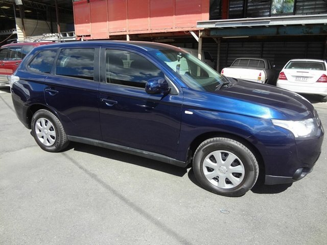 Used Mitsubishi Outlander ZJ ES (4x4) Coopers Plains, 2012 Mitsubishi Outlander ZJ ES (4x4) Blue Continuous Variable Wagon