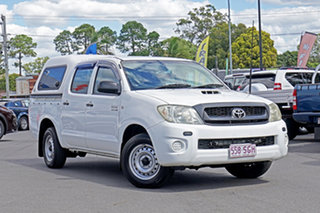 2008 Toyota Hilux KUN16R MY09 SR 4x2 White 5 Speed Manual Utility