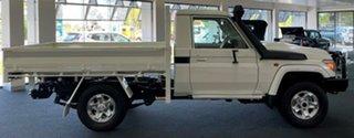2020 Toyota Landcruiser VDJ79R GXL White 5 Speed Manual Cab Chassis.