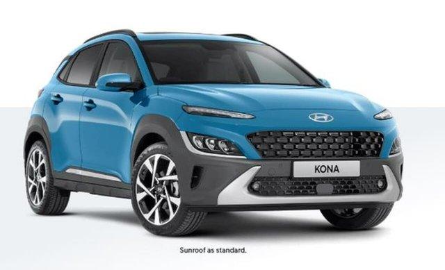 New Hyundai Kona Os.v4 MY21 Highlander 2WD Oakleigh, 2020 Hyundai Kona Os.v4 MY21 Highlander 2WD Blue 8 Speed Constant Variable Wagon