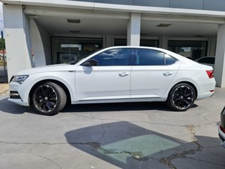 2020 Skoda Superb NP MY21 206TSI Sedan DSG SportLine Moon White 6 Speed Sports Automatic Dual Clutch.
