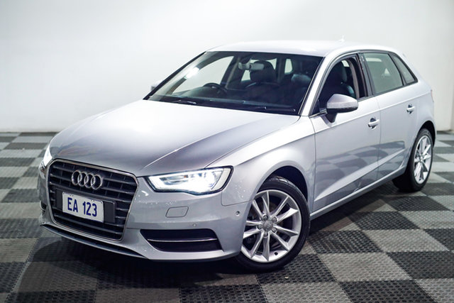 Used Audi A3 8V MY16 Attraction Sportback S Tronic Edgewater, 2016 Audi A3 8V MY16 Attraction Sportback S Tronic Silver 7 Speed Sports Automatic Dual Clutch