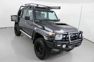 2017 Toyota Landcruiser LC70 VDJ79R MY17 GXL (4x4) Grey 5 Speed Manual Double Cab Chassis