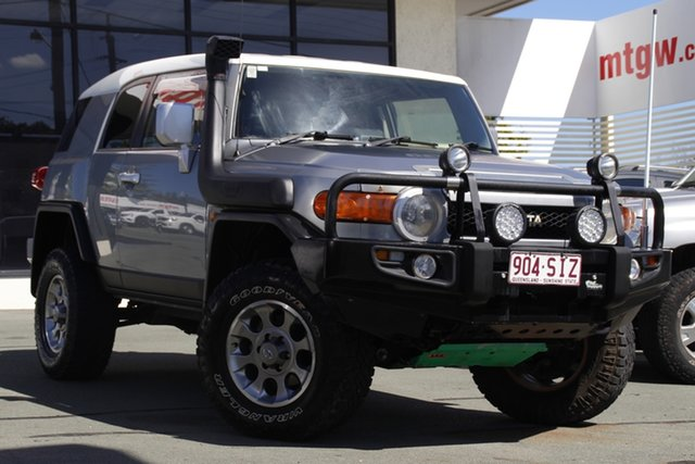 Used Toyota FJ Cruiser GSJ15R Mount Gravatt, 2012 Toyota FJ Cruiser GSJ15R Grey 5 Speed Automatic Wagon