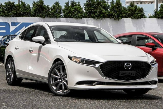 Demo Mazda 3 BP2S7A G20 SKYACTIV-Drive Touring Waitara, 2021 Mazda 3 BP2S7A G20 SKYACTIV-Drive Touring White 6 Speed Sports Automatic Sedan