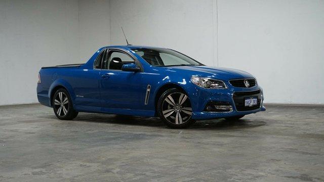 Used Holden Ute VF MY14 SV6 Ute Storm Welshpool, 2014 Holden Ute VF MY14 SV6 Ute Storm Blue 6 Speed Manual Utility