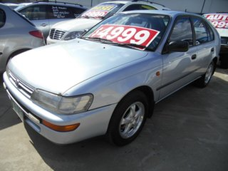 1995 Toyota Corolla AE102X CSX Seca Silver 5 Speed Manual Liftback.