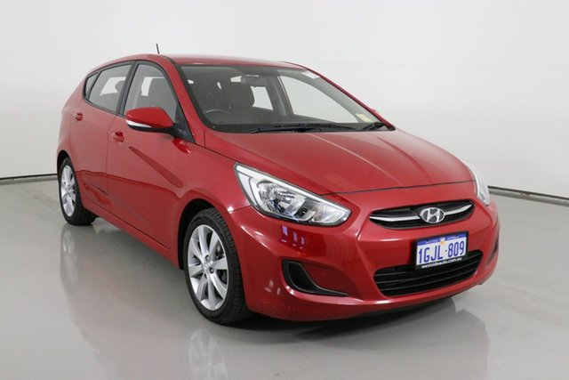 Used Hyundai Accent RB5 Sport Bentley, 2017 Hyundai Accent RB5 Sport Red 6 Speed Automatic Hatchback