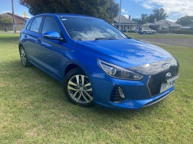 Pre-Owned Hyundai i30 PD Active Wangaratta, 2017 Hyundai i30 PD Active Blue 6 Speed Auto Sequential Hatchback