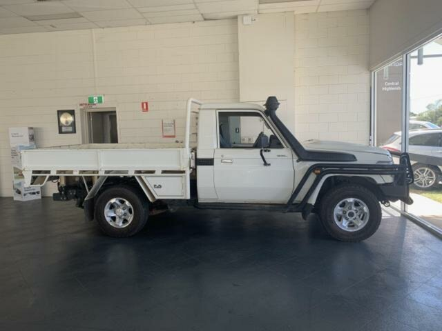 Used Toyota Landcruiser VDJ79R GXL (4x4) Emerald, 2018 Toyota Landcruiser VDJ79R GXL (4x4) White 5 Speed Manual Cab Chassis