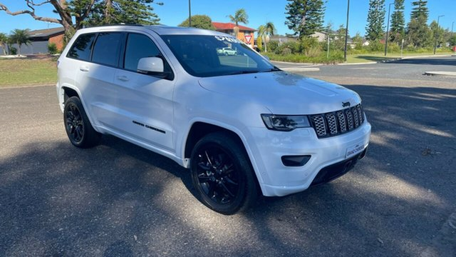 New Jeep Grand Cherokee WK MY21 Night Eagle Port Macquarie, 2021 Jeep Grand Cherokee WK MY21 Night Eagle Bright White 8 Speed Sports Automatic Wagon