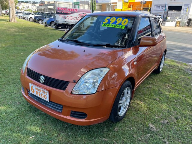 Used Suzuki Swift RS415 Clontarf, 2005 Suzuki Swift RS415 Orange 5 Speed Manual Hatchback