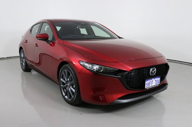 Used Mazda 3 BP G20 Evolve Bentley, 2020 Mazda 3 BP G20 Evolve Red 6 Speed Automatic Hatchback